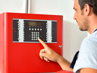 BURNS man fire alarm panel