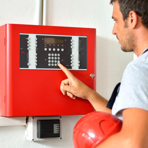 BURNS man fire alarm panel