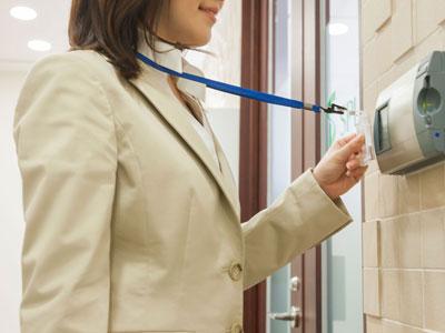 BURNS woman slide key pad